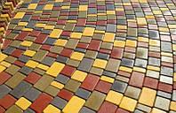 Плитка тротуарная Носталит (Старый город), толщина 60 мм, цвет Оливковый