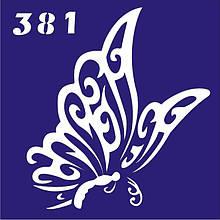 Трафарет для временного тату №381