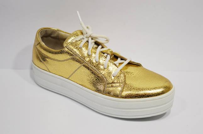 Кроссовки женские золотистые Selesta 1502, фото 2