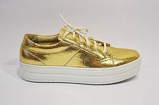 Кроссовки женские золотистые Selesta 1502, фото 3