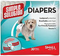 Simple Solution Disposable Diapers, Small, 30 шт - гигиенические одноразовые подгузники для собак малых пород