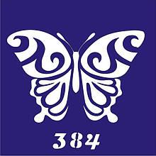 Трафарет для временного тату №384