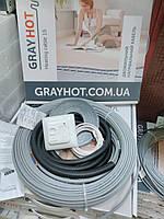 7m2 Нагревательный кабель GrayHot 7,1м.кв + терморегулятор, фото 1