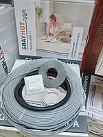 Теплый пол электрический GrayHot на 10м2 + регулятор (кабель 102м двухжильный)