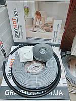 Нагревательный кабель на 11,5 м.кв GrayHot + регулятор (двухжильный кабель 115м для теплого пола)