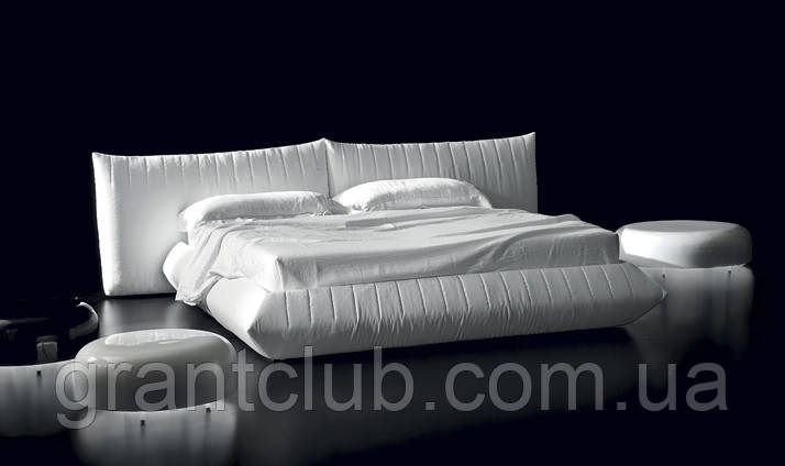 Італійська біла сучасна ліжко BELLAVITA фабрика ALBERTA для матраца 180х200
