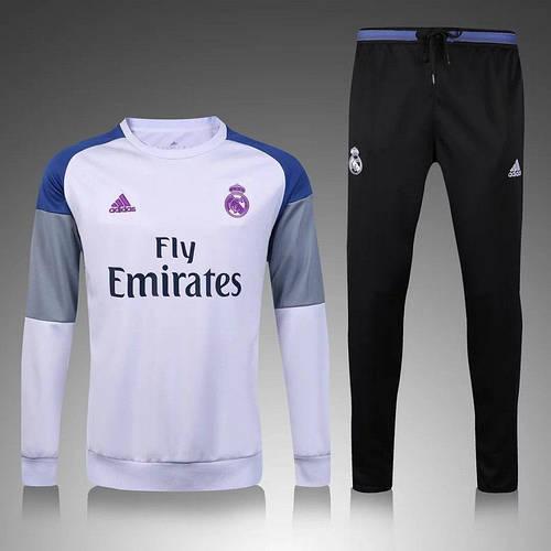Костюм тренировочный Реал Мадрид белый сезон 15-16