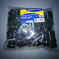 Майданчик 20х20 чорний (упак 100шт)/Площадка 20х20 черная (упак 100шт)