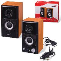 Акустична система GENIUS SP-HF500A, 2.0, 2 х 7W (RMS), 100 - 20000Hz, 82 дБ, деревина (MDF), 2.46 кг