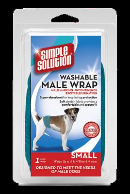 Simple Solution Washable Male Wrap, Small 1 шт - многоразовый гигиенический пояс для кобелей малых пород