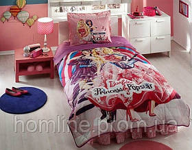 Покрывало хлопковое Tac Disney Barbie Princess Popstar 160*220 подростковое