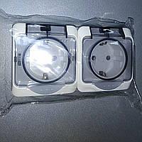 Блок - дві розетки 2Р+PE 2РЗ16-З-IP44N /