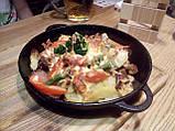 Сковорода чавунна (порційна), d=200мм, h=35мм з чавунною кришкою, фото 3