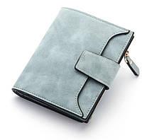 Стильный замшевый кошелек Baellerry (голубой)