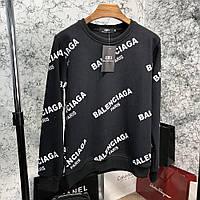 Свитшот Balenciaga Jacquard Logo Crewneck Black