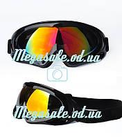 Маска горнолыжная/лыжные очки Spark c УФ фильтром: Черный (Black)