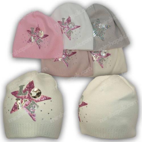 Модные шапки для девочек, р. 46-48