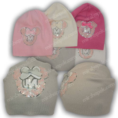 Детские шапки для девочек, р. 46-48