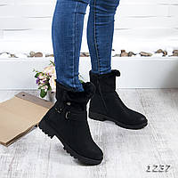 Женские ботинки черного цвета зимние