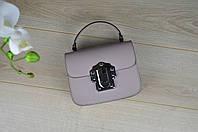 Кожаная бежевая сумка-клатч VirginiaConti