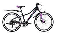 """Велосипед Cyclone Dream 24"""" черно-фиолетовый"""