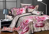 Постельное белье двуспальное розы 5д недорого