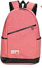 Рюкзак жіночий з замочком навскіс попереду Рожевий, фото 3