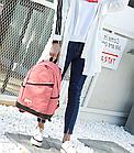 Рюкзак жіночий з замочком навскіс попереду Рожевий, фото 4