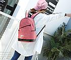 Рюкзак жіночий з замочком навскіс попереду Рожевий, фото 6