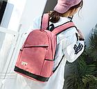 Рюкзак жіночий з замочком навскіс попереду Рожевий, фото 7