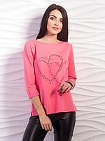 Молодежная кофта с сердечком  , фото 1