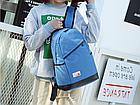 Рюкзак женский с замочком наискось спереди Голубой, фото 3