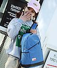 Рюкзак женский с замочком наискось спереди Голубой, фото 4