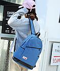 Рюкзак женский с замочком наискось спереди Голубой, фото 5