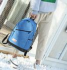 Рюкзак женский с замочком наискось спереди Голубой, фото 7