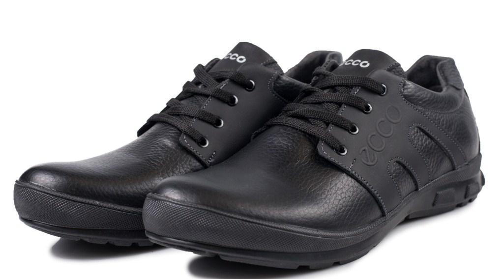Кожаные кроссовки ECCO черные 40 21069542d37a1