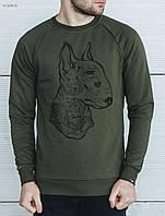 Мужской весенний свитшот Staff haki dog VLD0076