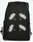 Рюкзак женский с замочком наискось спереди Чёрный, фото 3