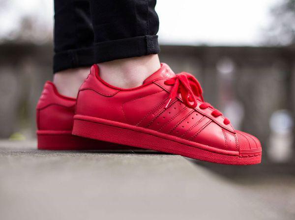 8f6d2c2c336 Женские кроссовки Adidas Superstar Red