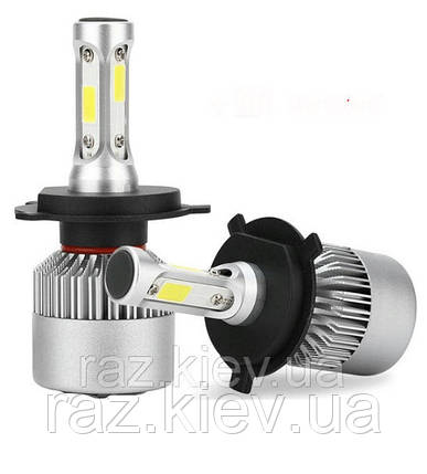 Светодиодная лампа H4 72 Вт (цена указана за 1 штуку 36 Вт) 8000LM пара, 6500K LED HEADLIGHT, фото 2