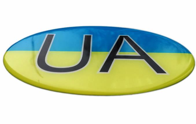 Силіконова наклейка UA, фото 2