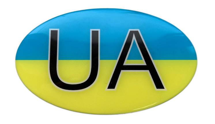 Силиконовая наклейка UA, фото 2