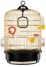 Клетка для птиц REGINA FERPLAST Antique Brass круглая 32,5*49