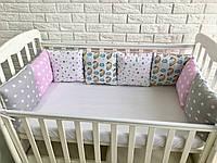 Защита в кроватку, бортики подушки «Звездный Единорог»