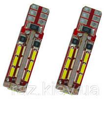 Светодиодная лампа для стайлинга автомобилей, W5W T10 2 Вт 27SMD-5050 LED12 В