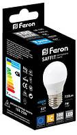 "Светодиодная лампа Feron LB195 E27 7W  2700K типа G45 ""шар"" для общего и декоративного освещения, фото 1"