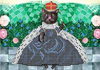 """Схема для частичной вышивки бисером по мотивам Е. Гапчинской """"Алиса кошка"""""""