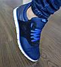 Спортивные туфли синие на белой подошве