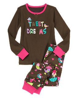 Пижама Птички с аппликацией и вышивкой   (Размер 8) Gymboree (США)
