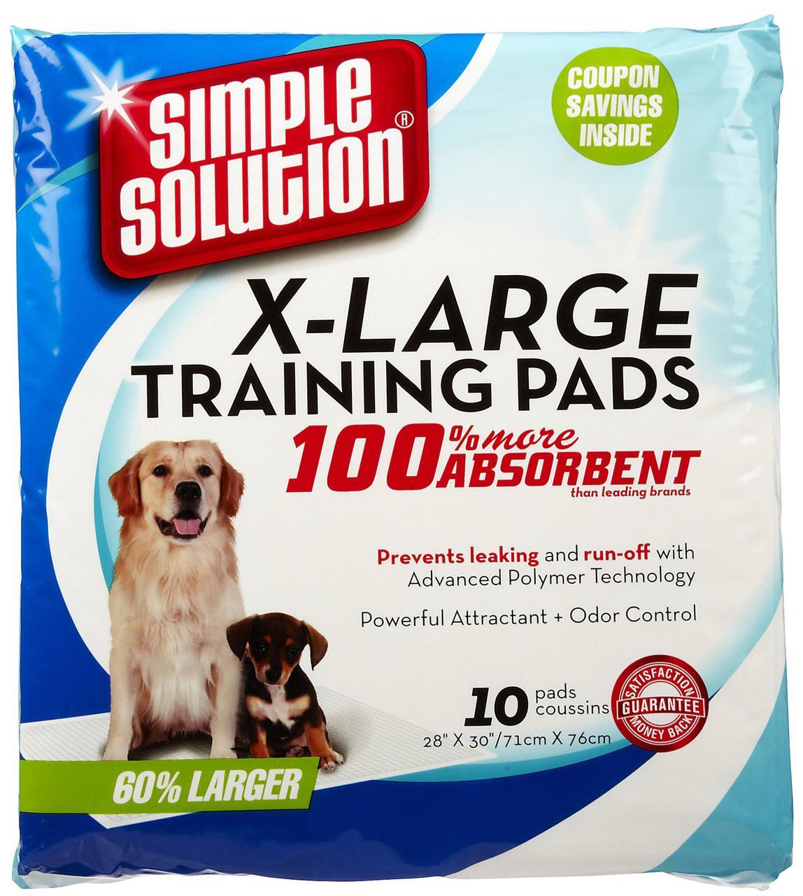 Simple Solution Training Extra Large Pads, 71x76 см - гигиенические пеленки для собак и щенков